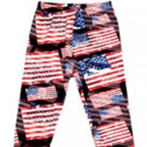 New Mix Leggings Flag Pattern #NWT